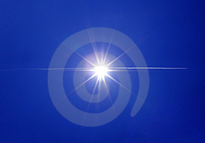 Airplane And Sun Royalty Free Stock Photography - Image: 13763607