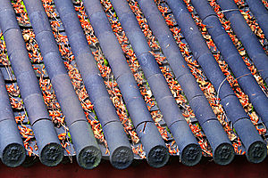 O Telhado Da Cidade Velha De Lijiang Fotos de Stock - Imagem: 13766473