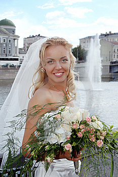 Smiling Beautiful Bride Stock Photo - Image: 13767240