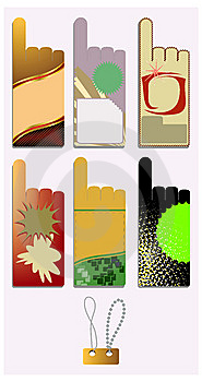 Set Of Colorful Blank Stickers. Stock Photo - Image: 13767290
