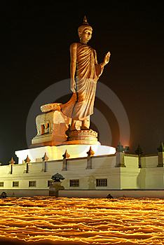 The Buddha On Fire III Royalty Free Stock Photo - Image: 13767385