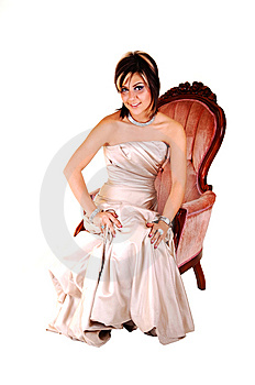 Lovely Young Woman In Evening Dress. Stock Image - Image: 13768331