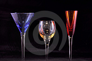 Primary Color Glasses, Black Stock Photos - Image: 13769343