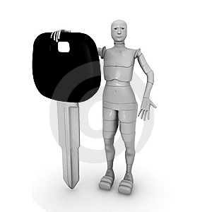 Female Android With Car Keys Royalty Free Stock Image - Image: 13769476