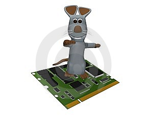 Computer Mouse Skin Tab Stock Image - Image: 13769721