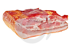 Smoked Bacon Chunk. Stock Photo - Image: 13769880