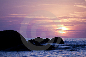 Sunset In Andaman Sea Royalty Free Stock Image - Image: 13769886