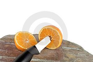 Orange And Knife Stock Image - Image: 13770261