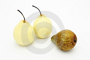 Pears Beautiful And Ugly Royalty Free Stock Photo - Image: 13770375