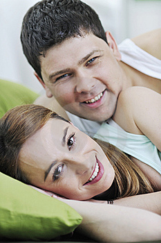 Young Couple In Bed Stock Photos - Image: 13772033