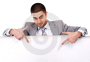 Man With Placard Royalty Free Stock Photos - Image: 13772238