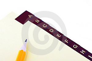 Catalogue And Pen Stock Images - Image: 13772324