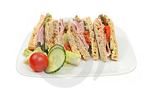 Ham Salad Sandwich Royalty Free Stock Photography - Image: 13774497