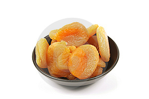 Dried Apricots In A Bowl Stock Photo - Image: 13775460