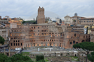 Trajian's Market Ruins, Rome - Italy Royalty Free Stock Photo - Image: 13775715