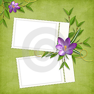 Card For The Holiday  With Flowers Stock Image - Image: 13777201