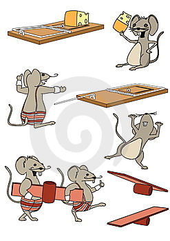 A Funny Mouse Set Royalty Free Stock Images - Image: 13778599