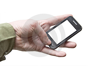 Cell Phone Touchscreen Royalty Free Stock Photos - Image: 13778728