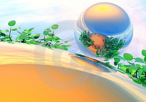Appearance In The Reflection Royalty Free Stock Photography - Image: 13778737