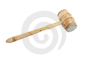 Used Meat Hammer Royalty Free Stock Photos - Image: 13779708