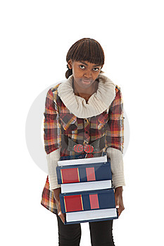 Student Heavy Load Stock Image - Image: 13781301