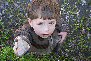 Boy  Looking Up Royalty Free Stock Image - Image: 13781706