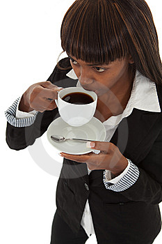 Sipping Coffee Royalty Free Stock Image - Image: 13781956