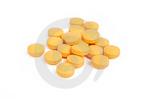 Pile Of Orange Pills Royalty Free Stock Photo - Image: 13782415