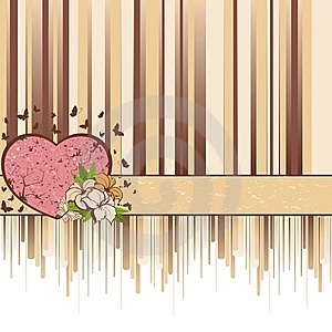 Background With Heart And Flowers Stock Image - Image: 13782461