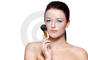 Portrait Of A Beautiful Brunette Woman Stock Image - Image: 13782961