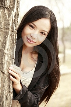 Asian Girl Outdoors Stock Photo - Image: 13783250
