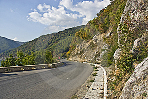 Mountain Road Near The Danube Royalty Free Stock Photo - Image: 13786165