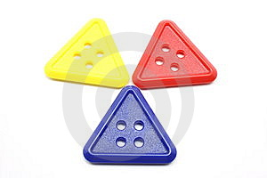 Three Triangle Buttons Stock Images - Image: 13786634