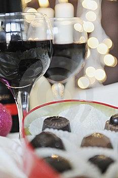Wine And Chocolate Stock Photo - Image: 13787090