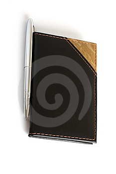Closed Business Leather Book Stock Image - Image: 13787331