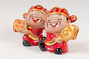 Fortune God Figurine Royalty Free Stock Images - Image: 13788159