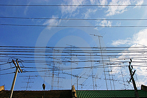 Group Of Electricity Post Stock Photos - Image: 13789123