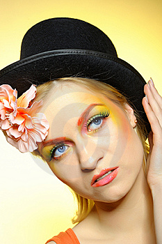 Fashion Woman With Creative Eye Make-up Royalty Free Stock Images - Image: 13789869