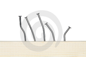 Bent Nails Royalty Free Stock Images - Image: 13791989