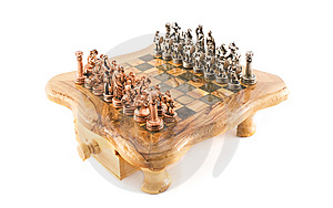 Black And White Chess On Chessboard Stock Photo - Image: 13792090