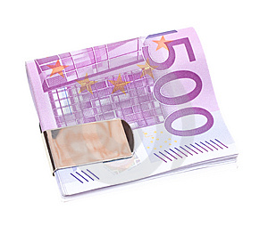 Five Hundred Euro Banknotes Isolated On White Royalty Free Stock Images - Image: 13793069