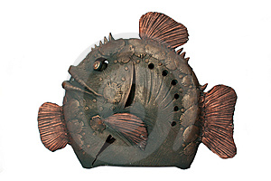 Bronze Ceramics Fish Stock Photos - Image: 13793173