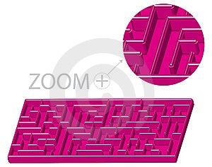 Maze In 3D Cartoon Style Stock Photo - Image: 13793360