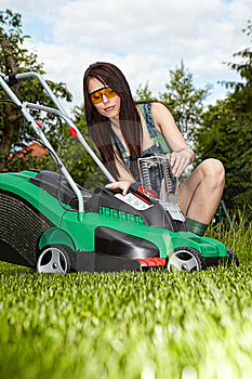 Mowing The Lawn Royalty Free Stock Image - Image: 13793506