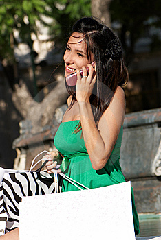 The Beautiful Young Girl With Phone Royalty Free Stock Image - Image: 13794096