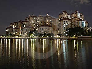 Colourful Light Reflections At Kallang Basin Royalty Free Stock Photography - Image: 13795107