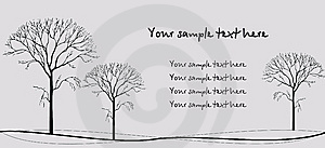 Three Trees Royalty Free Stock Photo - Image: 13797025