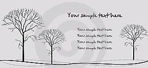 Three Trees Royalty Free Stock Photo - Image: 13797025