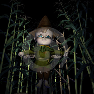 Sad Little Scarecrow Stock Photo - Image: 1380050