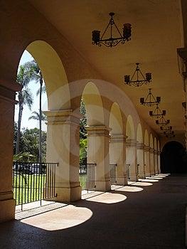 Spanish-style Breezeway Stock Images - Image: 1380314